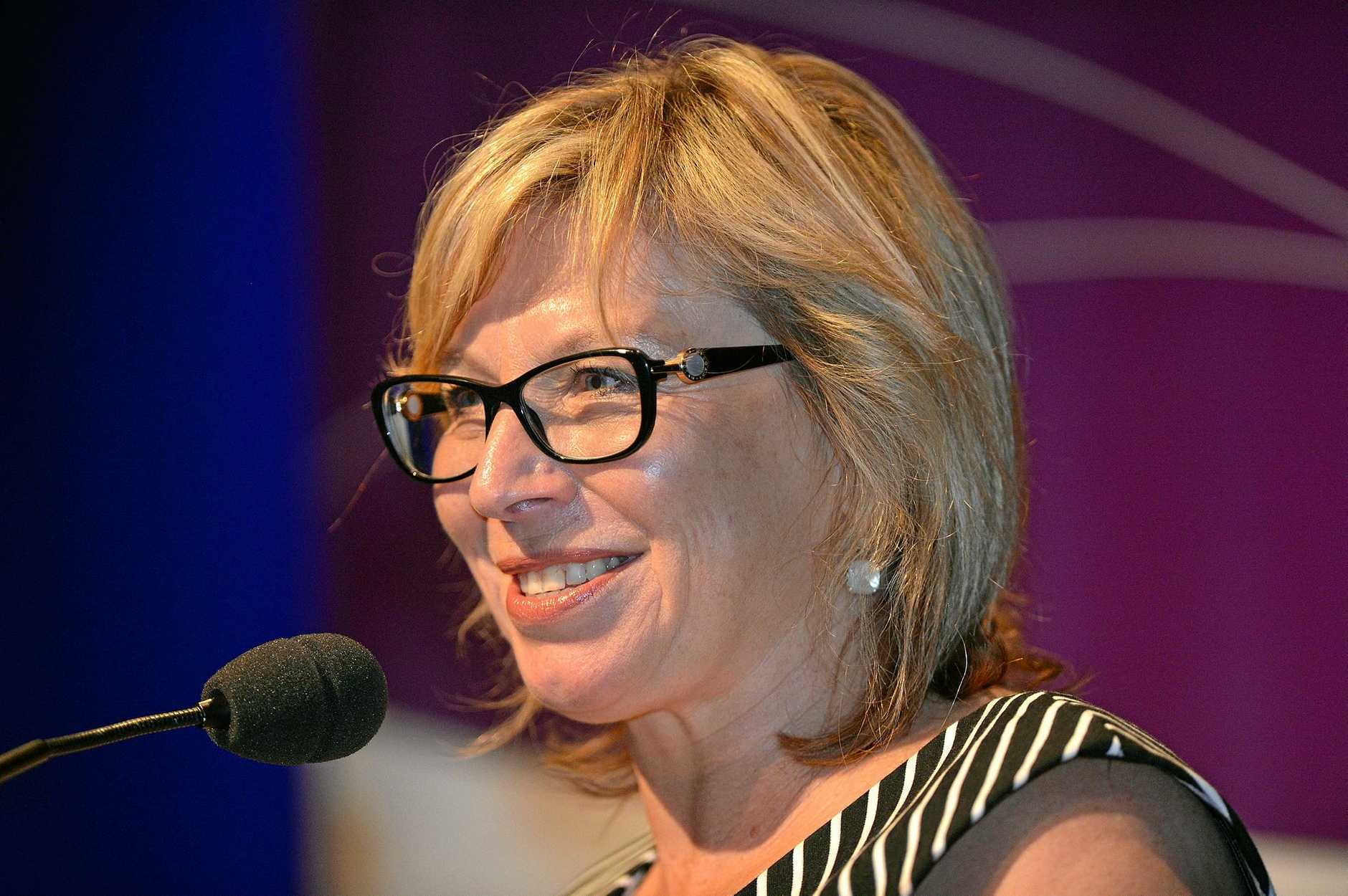 Rosie Batty speaks about domestic violence for International Women's Day. Photo: Warren Lynam / Sunshine Coast Daily