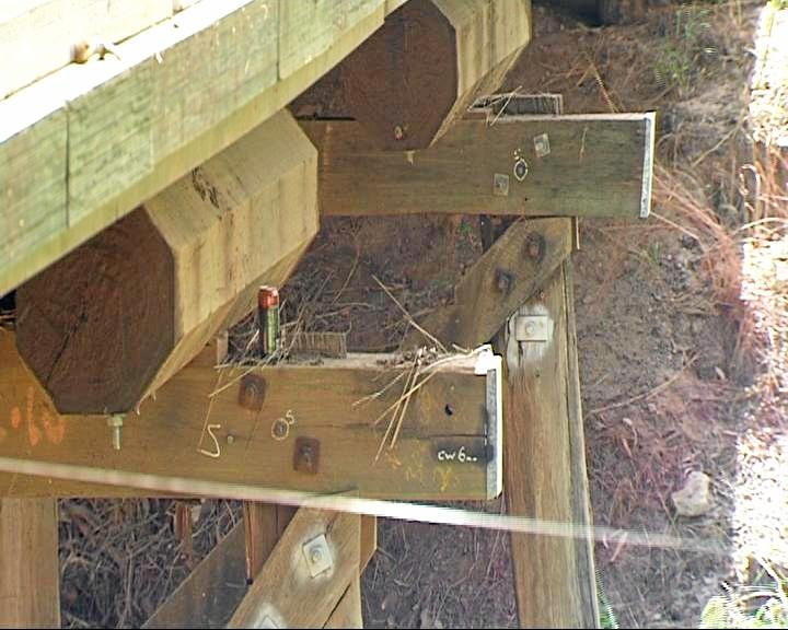 The Catfish Creek bridge 22km west of Calliope was one of the five timber bridges replaced.
