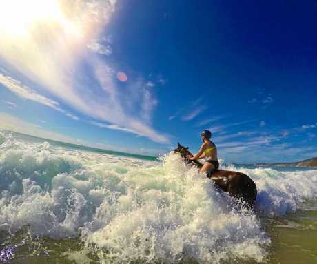 Beach riding at its best on a beautiful Cooloola Coast winter's day.