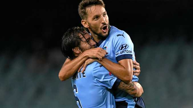 Sydney FC's Milos Ninkovic (right) looms as a key player in Sunday's A-League grand final clash against Melbourne Victory.