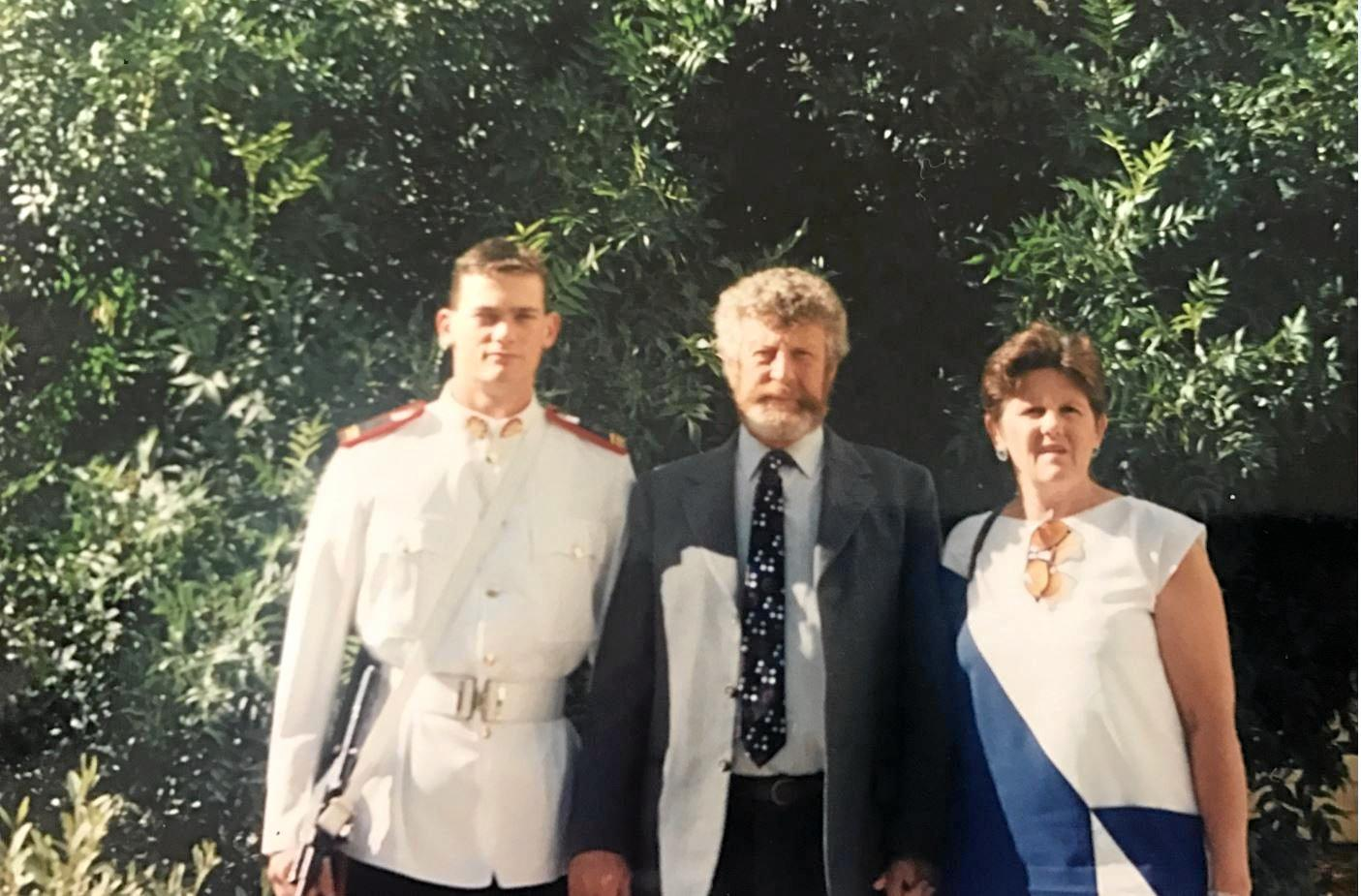 Sean Sargent with his father Tom and stepmother Ruth.