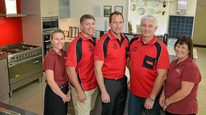 THE NEW TEAM: Oakvale Homes' new owners Sharon and Kurt Hansen with team members Damien Torrens, Karl Moore and Daph Backhouse.