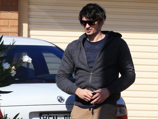 Scott Broadbridge, fiance of alleged cocaine smuggler Cassie Sainsbury, at the home the couple shared before her arrest in Colombia.