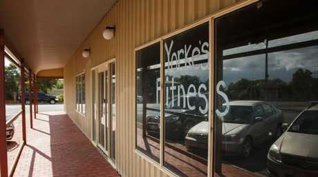 Cassie Sainsbury's closed gym, Yorke's Fitness, in the Yorke Peninsula west of Adelaide.