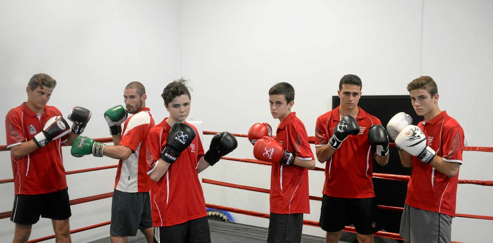 FIGHT: Dean Read, Adam Becker, Tristan Hotz, Bronson Carroll will box tonight.