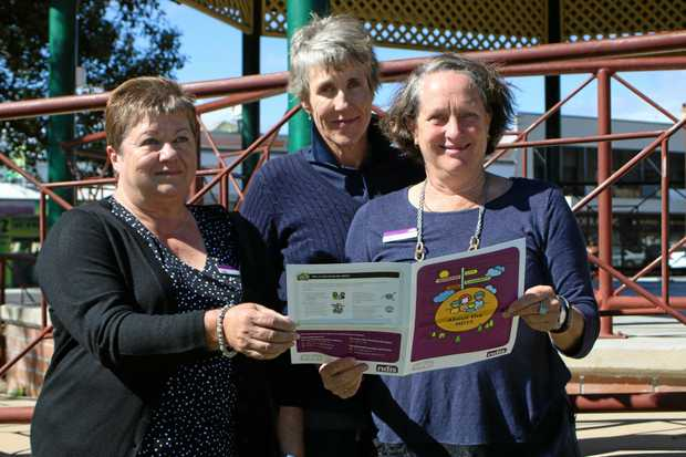 JOB GROWTH: Chamber of Commerce vice president Dr Louise Clarke (centre) joining with NDIS local area coordinators Loy Tomsons and Kaye McCulloch to find growth opportunities.