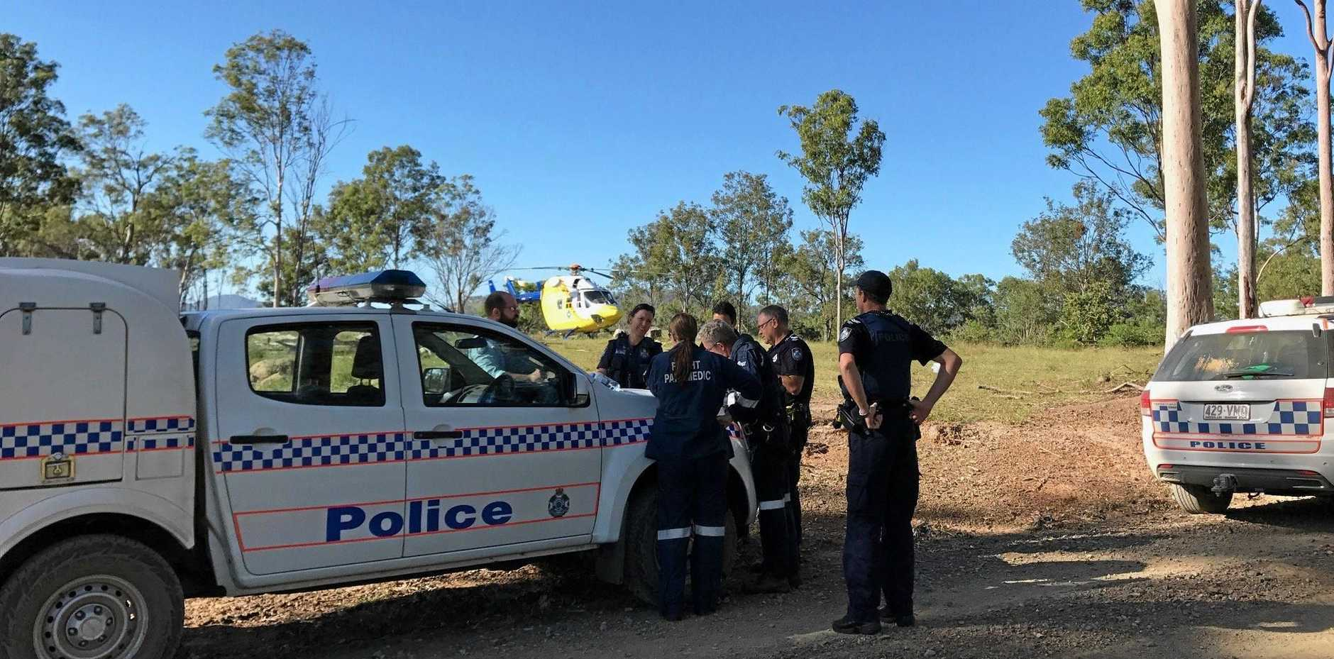WASTE OF TIME: The Bundaberg RACQ LifeFight Rescue helicopter spent about two searching for the missing man and his vehicle.