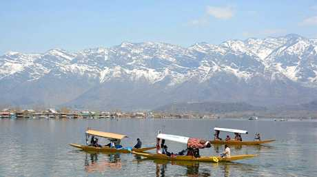 Visitors from both India and abroad visit Dal Lake in Srinagar, Indian-administered Kashmir.