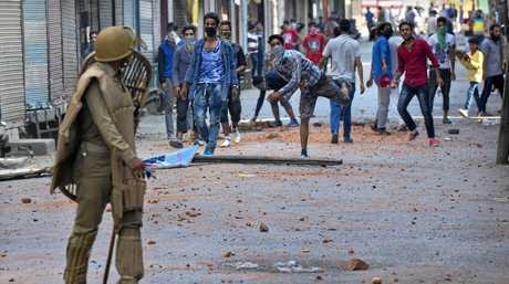 It was a dangerous time to be travelling in Kashmir as rebels and police often clashed.