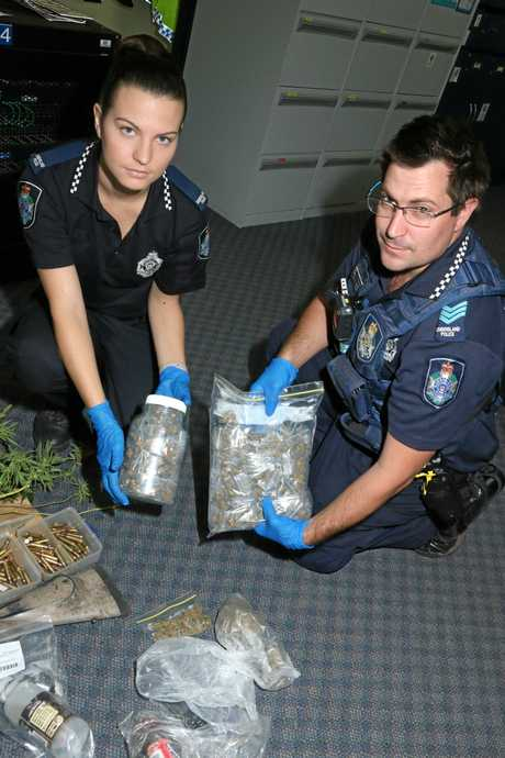 BUST:  Huge Police raids in St George this morning saw a range of drugs and drug equipment seized.