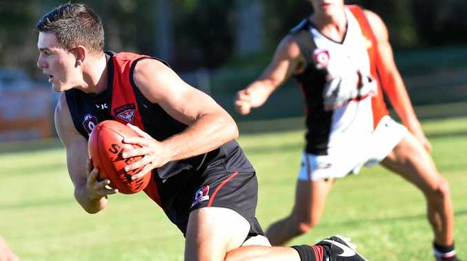 WIN: Hervey Bay Bombers are back. Jack O'Connell is pictured playing last week.