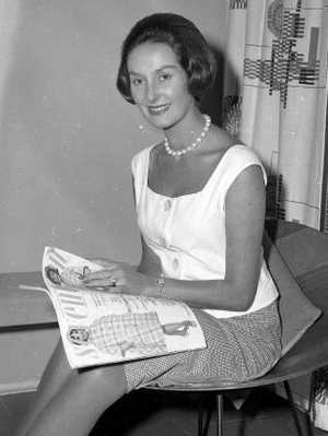 June Dally-Watkins in 1961.