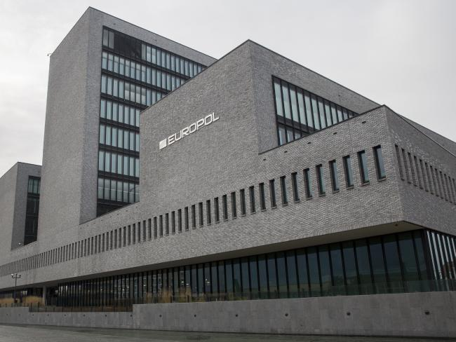 Europol headquarters in The Hague, Netherlands.