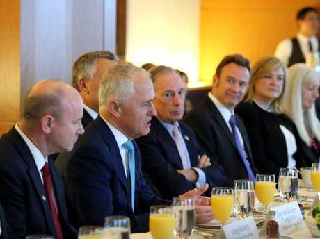Prime Minister Malcolm Turnbull attends the CEO Breakfast hosted by Morgan Stanley chief executive officer James Gorman in New York on Friday.