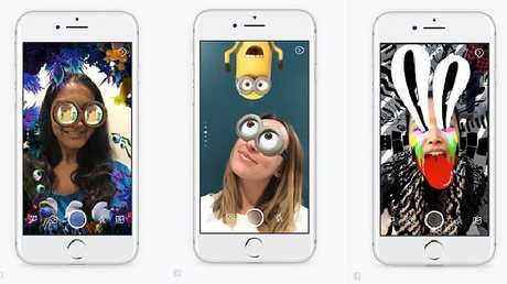Facebook is mimicking Snapchat with augmented reality filters to appeal to Snapchat's teen users.