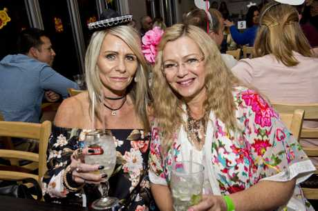 ( From left ) Lyn Nielsen and Michelle Ross enjoy Cinco de Pop at The Spotted Cow . Saturday, 6th May, 2017.