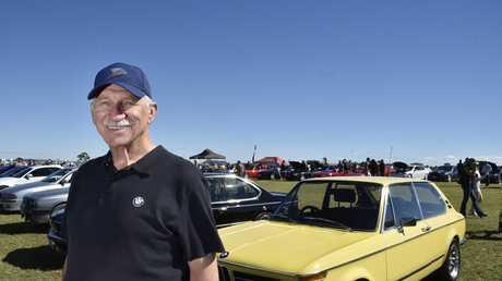 David Burnett, with his 1972 BMW 2000 touring. The David Hack Classic at Toowoomba Airport. May 7, 2017