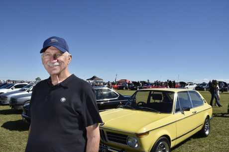 David Burnett, with his 1972 BMW 2000 touring. The David Hack Classic at Toowoomba Airport. May 7, 2017
