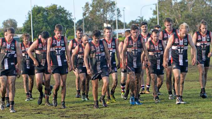 North Mackay Saints after their tough match against Mackay Magpies at Zeolla Park on Saturday.