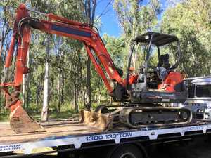 BIG HAUL: Police seized more than $100,000 worth of earth moving equipment in raids last week.
