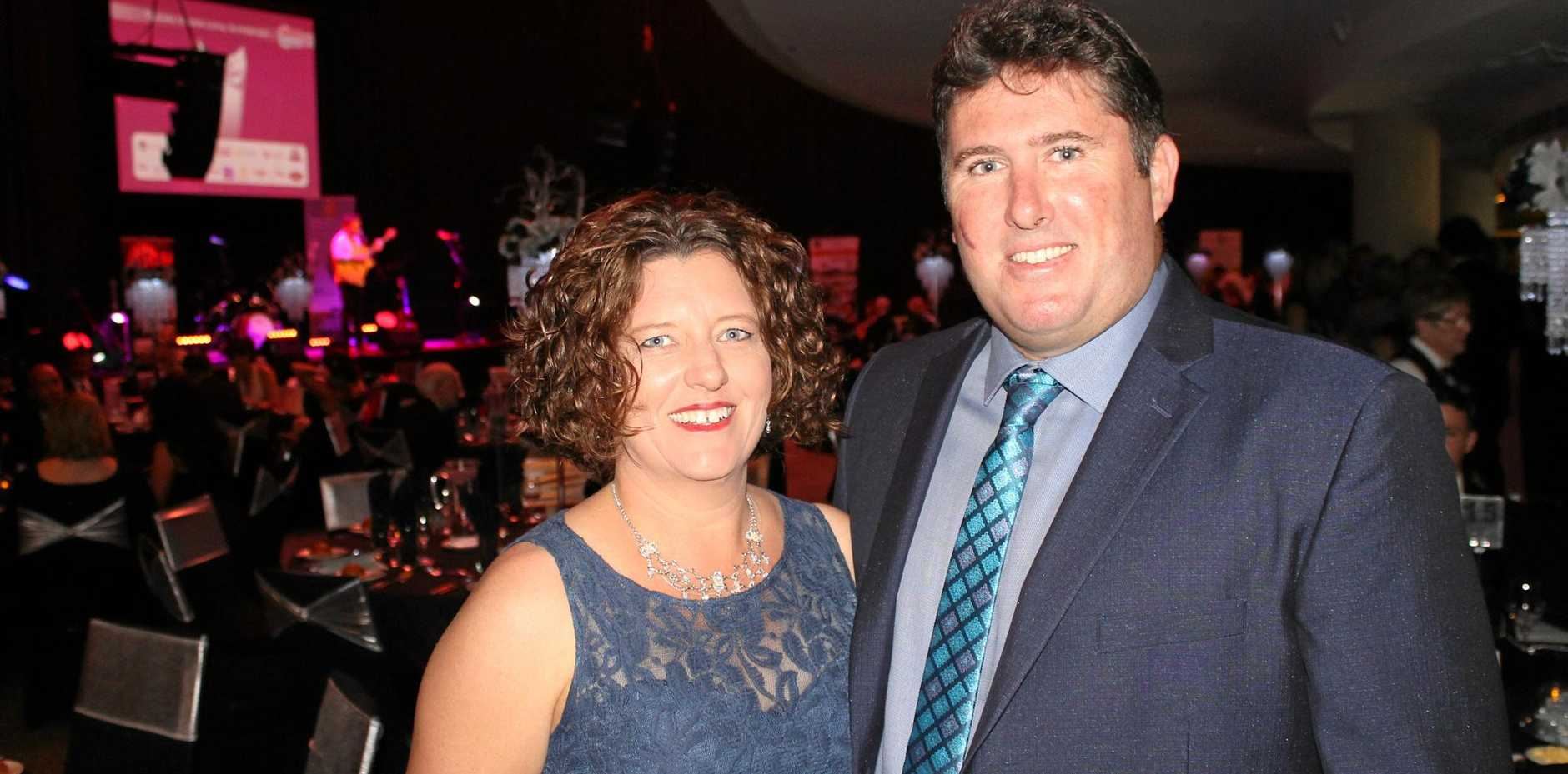 Tanya Williams and Gerard Williams from West Mackay at the Mackay Mayor's Charity Ball.