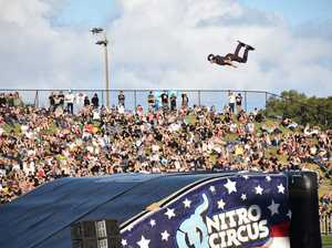 Nitro Circus 'blow the whistle' stunts at Sunshine Coast Stadium