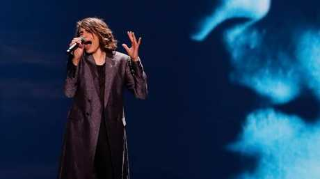 Isaiah Firebrace at his first Eurovision rehearsal.