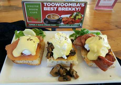 Engine Room cafe's breakfast for Mother's Day.