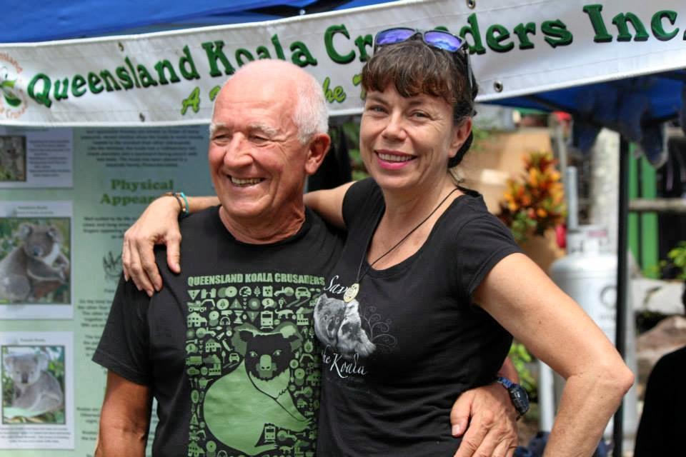 SAVE OUR KOALAS: Photographer Bernard Jean and Queensland Koala Crusaders President Meghan Halverson.