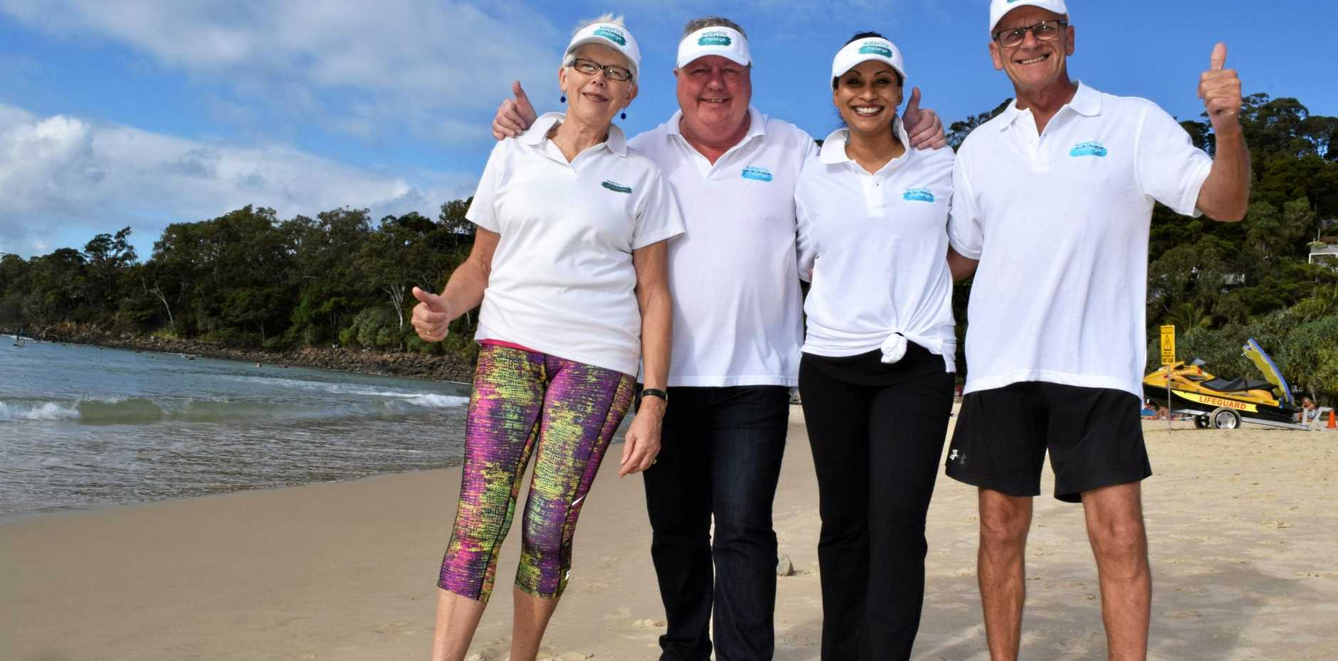 STEP UP: Walkers Dr Bronwyn Cooper, Julian Day, Preetie Shehkkar and supporter Gary Parsons.