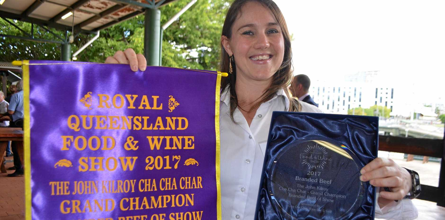 Stockyard marketing executive Sophie Kennedy with the trophy for Australia's best steak.
