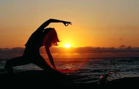 Yoga helps develop flexibility and strength.