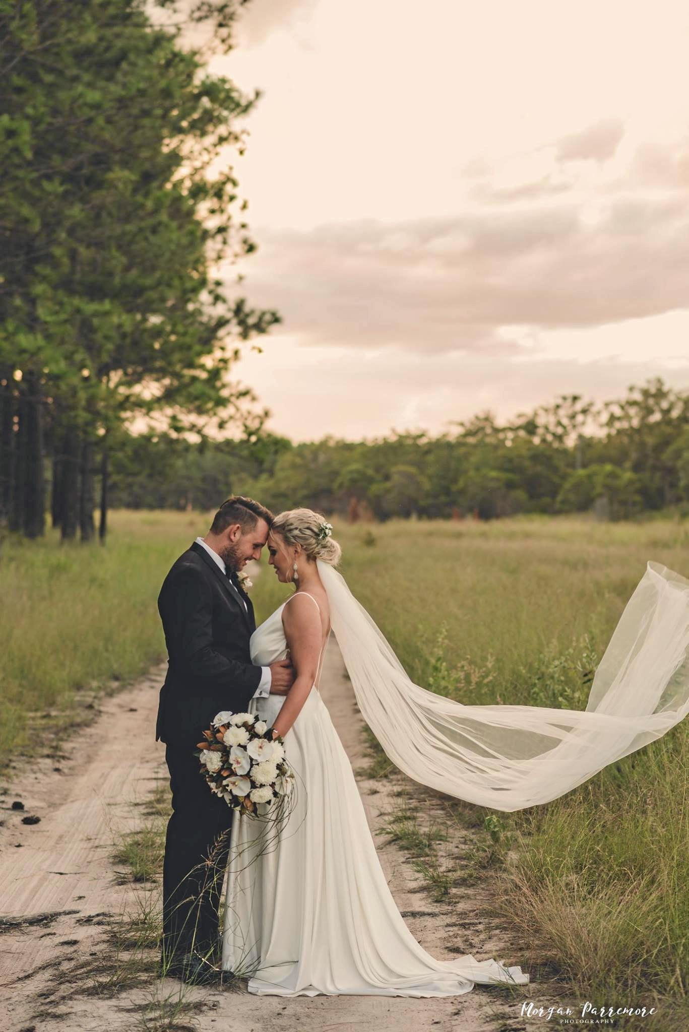 LOVE BIRDS: Brooke and Chris Bone tied the knot at Eleven Acres over the weekend.