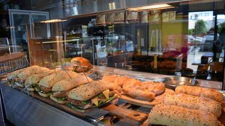 Jeremy's Turkish bread toasted sandwiches.