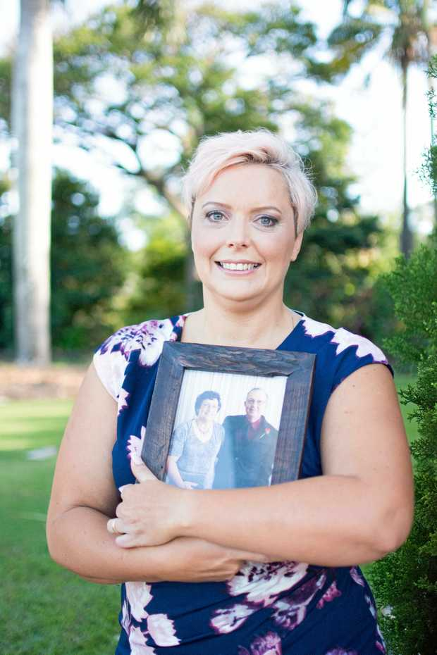STANDING STRONG: Narelle Finn lost both her parents to cancer and has started Mumma's Garden to give hope to sufferers.
