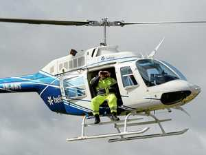 Helicopters keep transmission lines safe