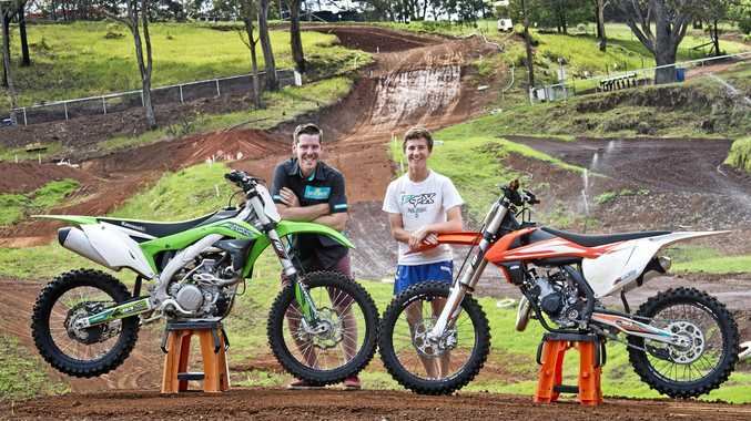 NATIONALS COMPETITORS: Toowoomba riders Kerrod Morrissy and Kaleb Barham at Echo Valley.