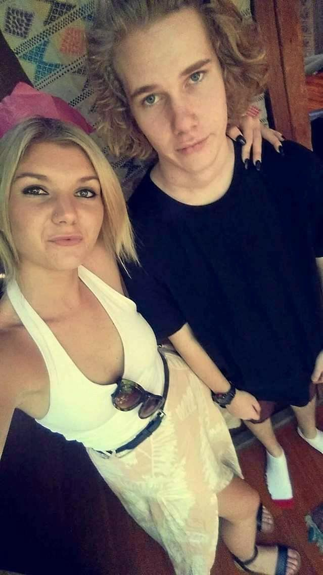 TRIBUTES FLOW: Jade Overell (L) pictured with her brother Brok. Jade died in a car crash on Saturday night.