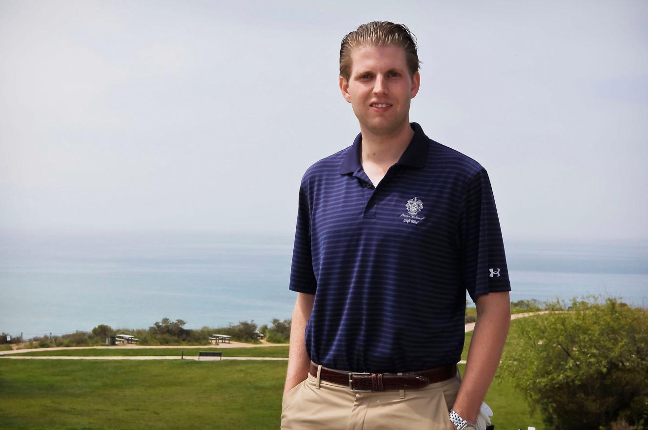 Eric Trump at Trump National Golf Course