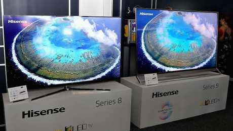 Hisense's new Series 8 and Series 9 TVs.