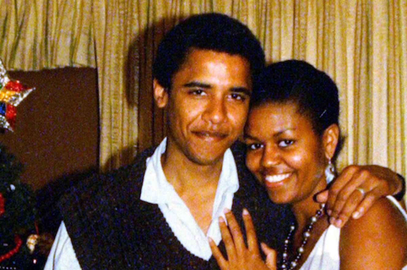 Barack and Michelle Obama in 2008.