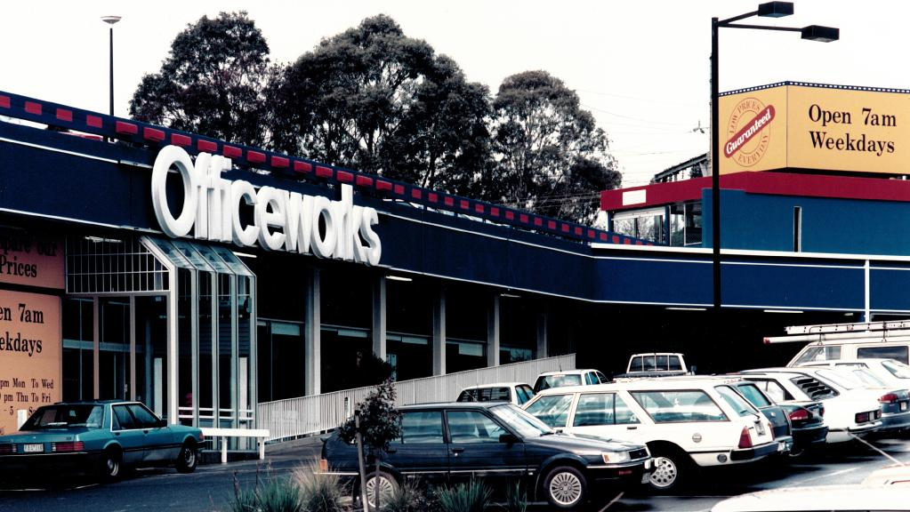 One of Officeworks' first stores, at Ringwood in 1994, the year the chain was launched.