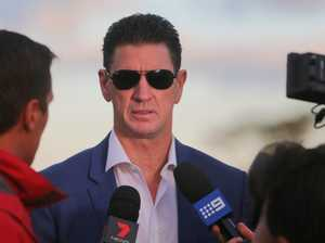 Ex-Sharks boss fronts media over cocaine charges