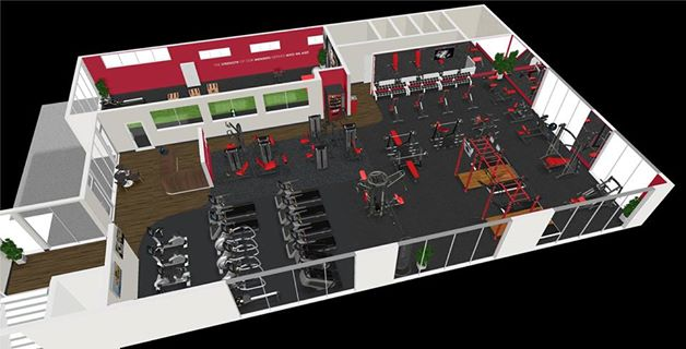 A map of the new Snap Fitness coming to West Ipswich. Source: Facebook