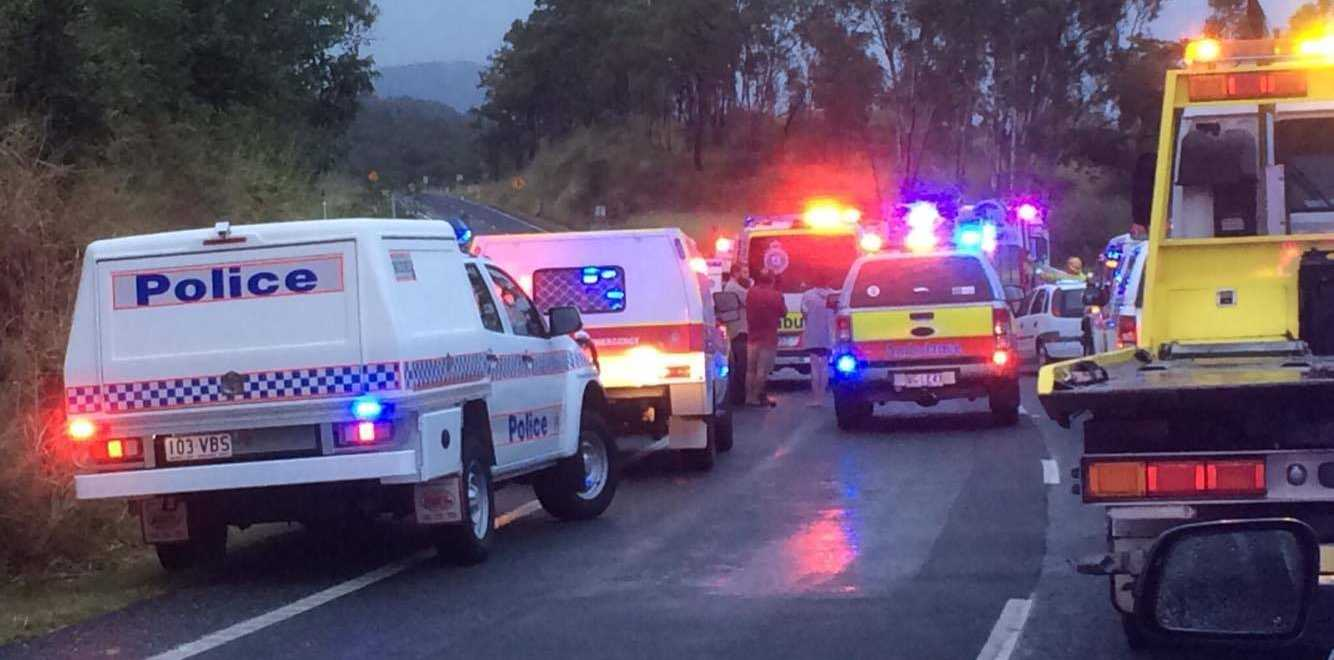 HORROR CRASH: A woman is critical after a serious crash on Yeppoon Rd. Photo courtesy of 7 New Central Queensland.