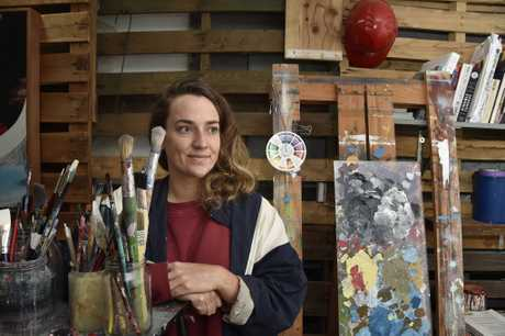 One of the 30 artists for First Coat to be held from May 19-21, Bronte Naylor. Launch of First Coat. May 2017