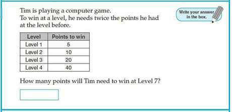 A question from the 2011 Year 3 NAPLAN test.