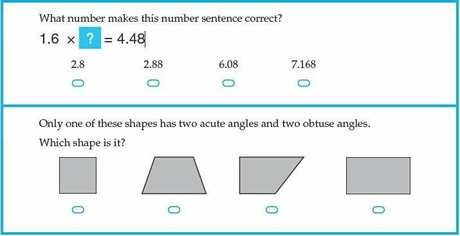 A question from the 2011 Year 9 NAPLAN test.