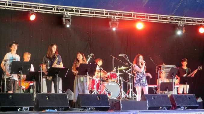 Kadina Soul Band had a ball playing at Bluesfest. The school students will take part in the SongMakers program this week.