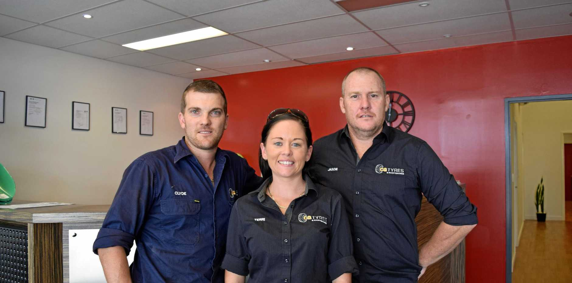 BUSINESS BOOMING: Mackay's own power trio Jason Steele, Terri Shepheard and Clyde Shepheard have three completely different businesses open from their office in Paget.